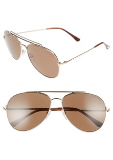 Tom Ford Indiana 60mm Polarized Aviator Sunglasses