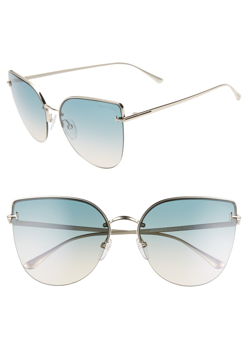 Tom Ford Ingrid 60mm Cat Eye Sunglasses