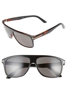 Tom Ford Inigo 59mm Flat Top Sunglasses