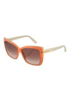 TOM FORD Irina Square Gradient Sunglasses