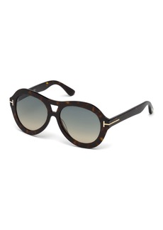 TOM FORD Isla Chunky Aviator Sunglasses