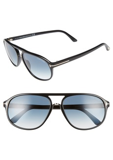 Tom Ford Jacob 60mm Retro Sunglasses