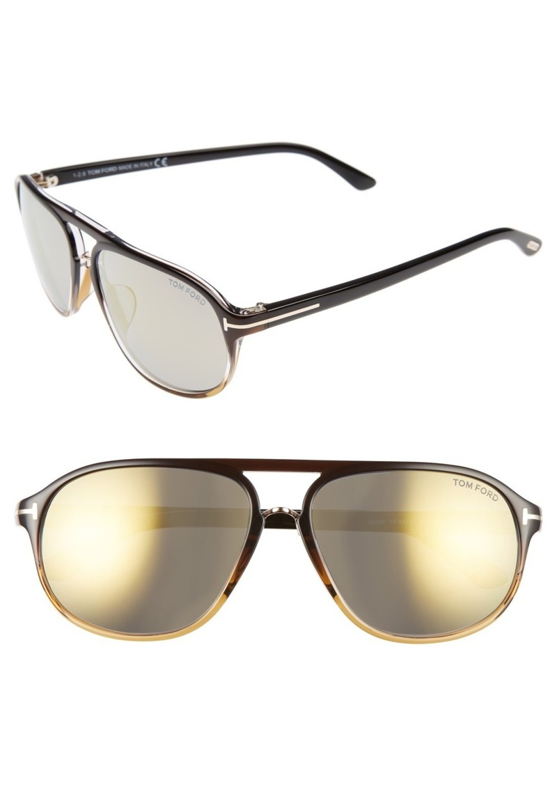 01c298d48a0 Tom Ford Tom Ford Jacob 61mm Special Fit Aviator Sunglasses