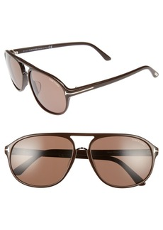 Tom Ford Jacob 61mm Special Fit Aviator Sunglasses