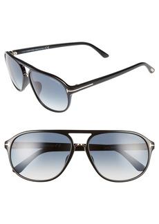 Tom Ford Jacob 61mm Special Fit Aviator Sunglasses