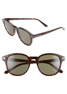 Tom Ford Jameson 52mm Round Sunglasses