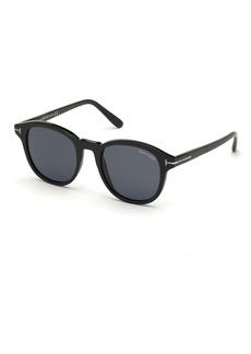 TOM FORD Jameson Round Acetate Sunglasses