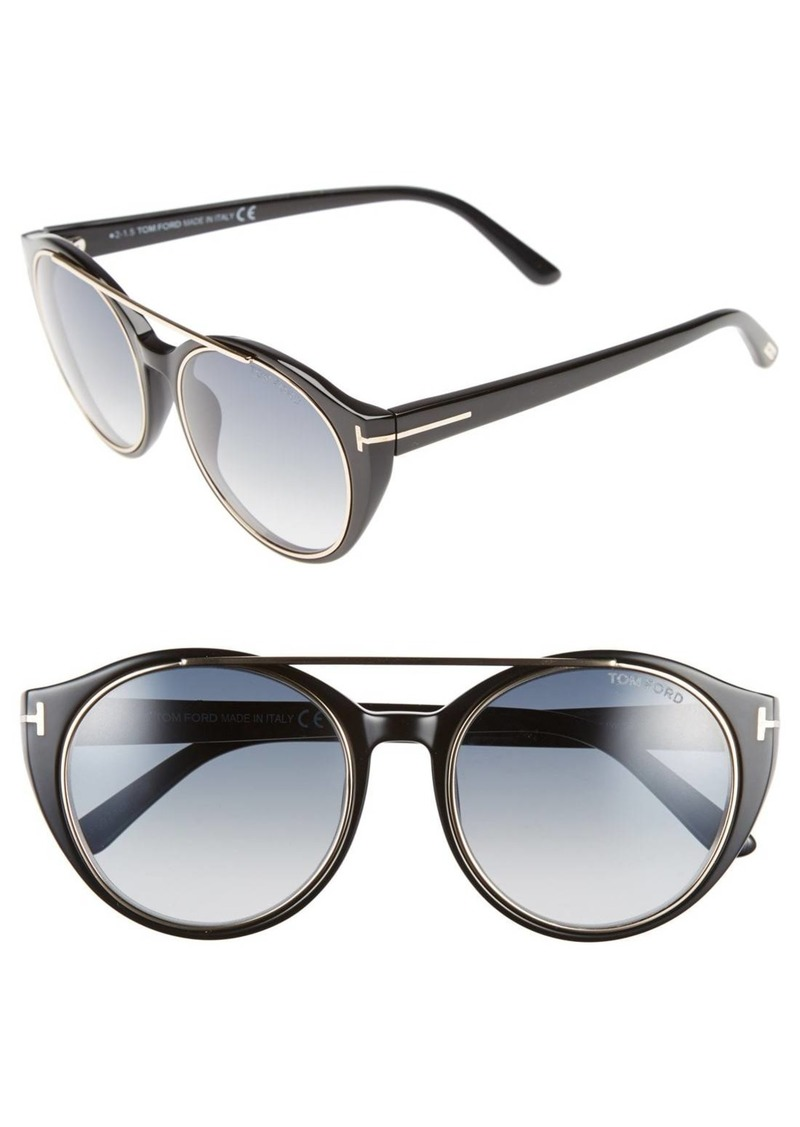 Tom Ford 'Joan' 52mm Round Sunglasses