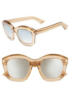 Tom Ford Julia 50mm Gradient Square Sunglasses