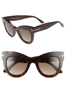 Tom Ford Karina 47mm Cat Eye Sunglasses