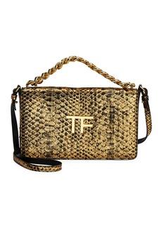 TOM FORD Large Laminated Python TF Shoulder Bag