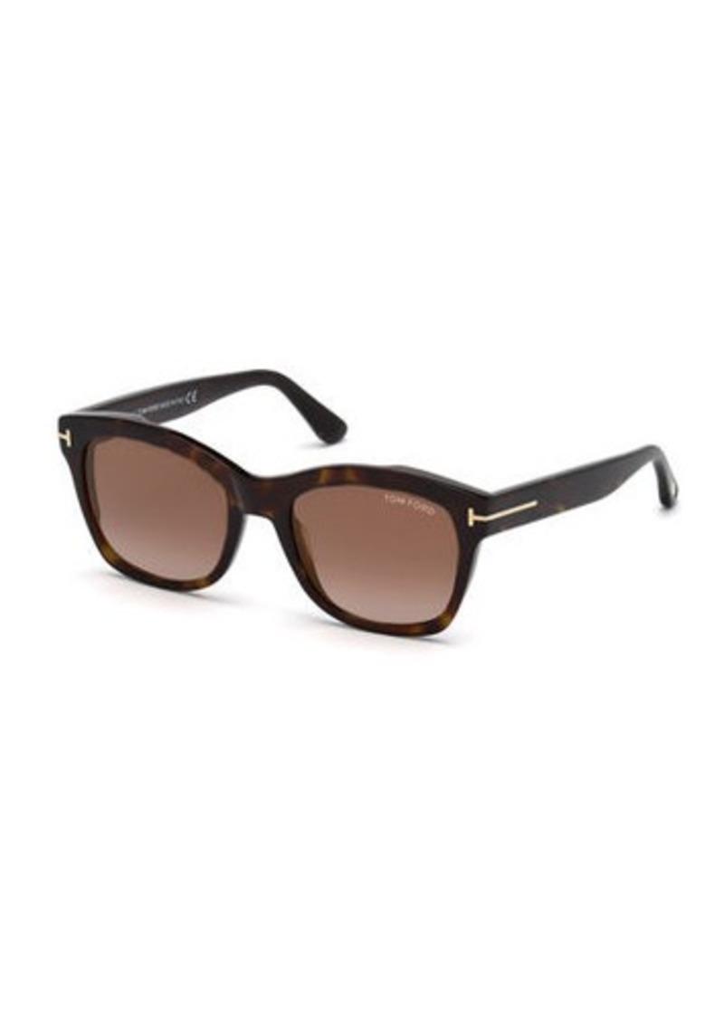 TOM FORD Lauren 02 Mirrored Square Sunglasses