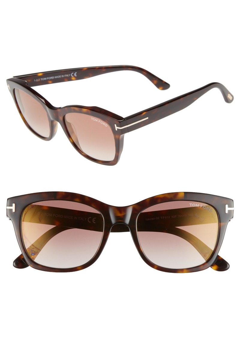 Tom Ford Lauren 52mm Sunglasses