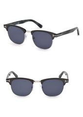 Tom Ford Laurent 51mm Round Retro Sunglasses