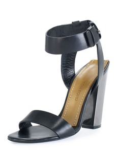 TOM FORD Leather Ankle-Strap 105mm Sandal