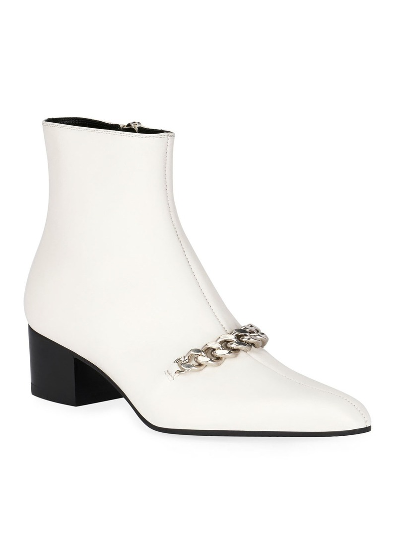 TOM FORD Leather Chain Ankle Booties