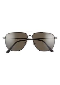 Tom Ford Len 58mm Polarized Navigator Sunglasses