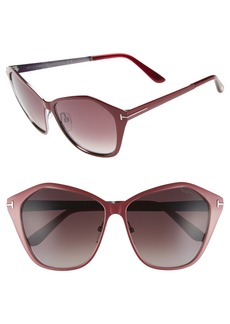Tom Ford Lena 58mm Sunglasses