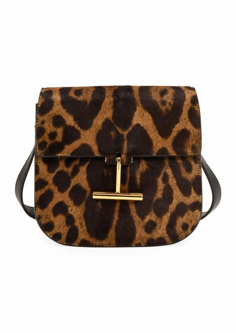 TOM FORD Leopard Calf Hair Shoulder Bag