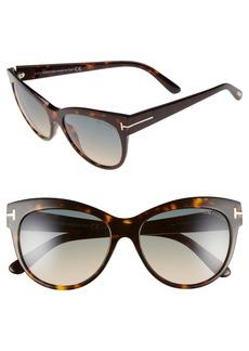 Tom Ford 'Lily' 56mm Cat Eye Sunglasses