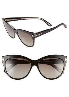 Tom Ford 'Lily' 56mm Polarized Cat Eye Sunglasses