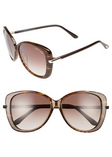 Tom Ford Linda 59mm Special Fit Butterfly Sunglasses