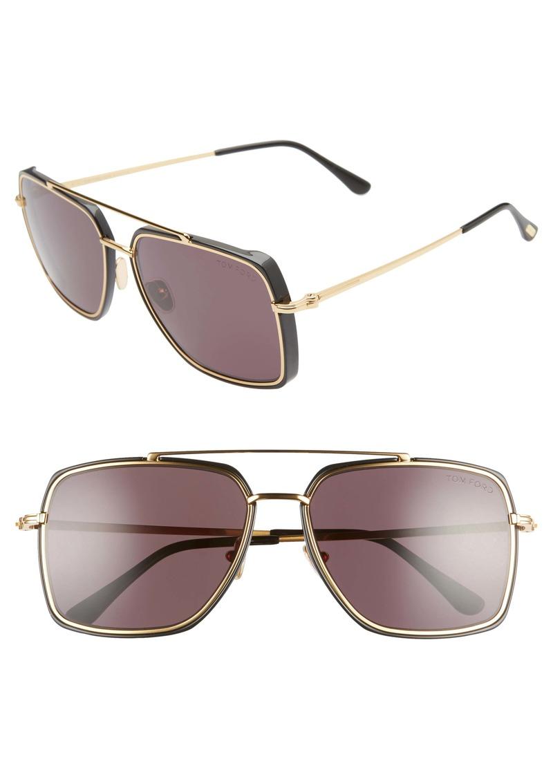 Tom Ford Lionel 60mm Navigator Sunglasses