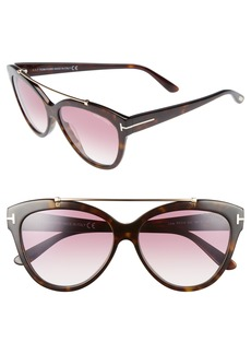 Tom Ford Livia 58mm Gradient Butterfly Sunglasses