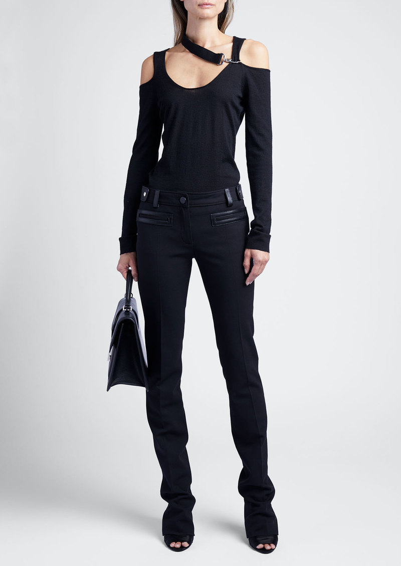 TOM FORD Long-Sleeve Sweater With Cutouts And Hardware