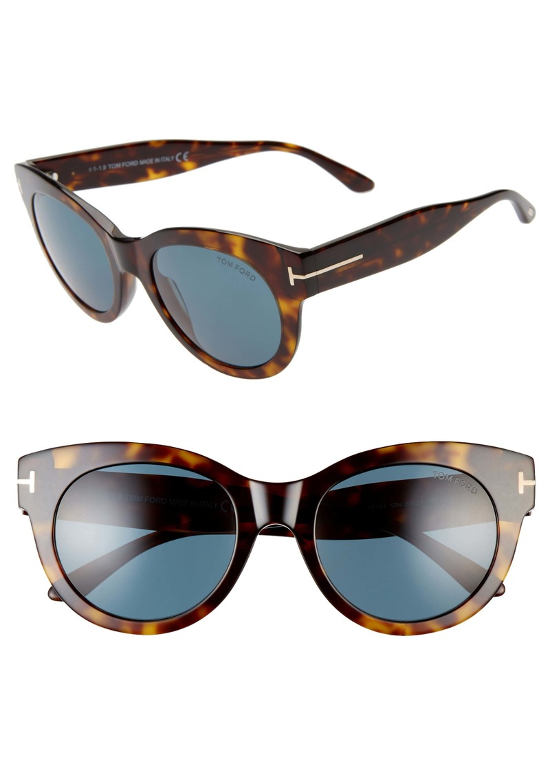 Tom Ford Lou 53mm Cat Eye Sunglasses