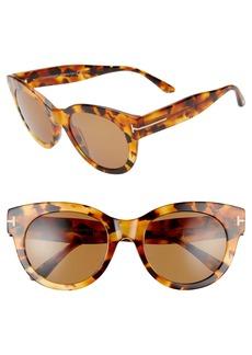 Tom Ford Lou 53mm Cat Eye Sunglasses