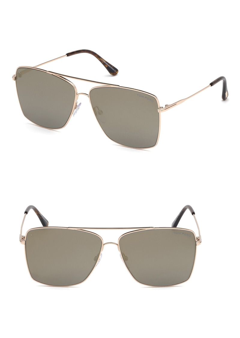 Tom Ford Magnus 60mm Aviator Sunglasses