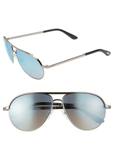 Tom Ford 'Marko' 58mm Metal Aviator Sunglasses