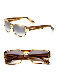 Tom Ford Mason 58MM Rectangular Sunglasses