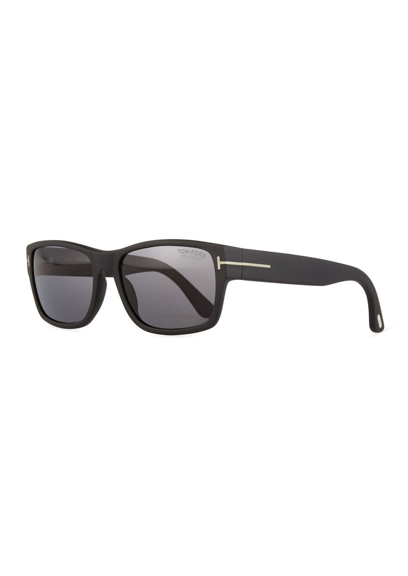 TOM FORD Mason Matte Polarized Sunglasses  Black
