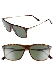 Tom Ford Max 57mm Polarized Sunglasses