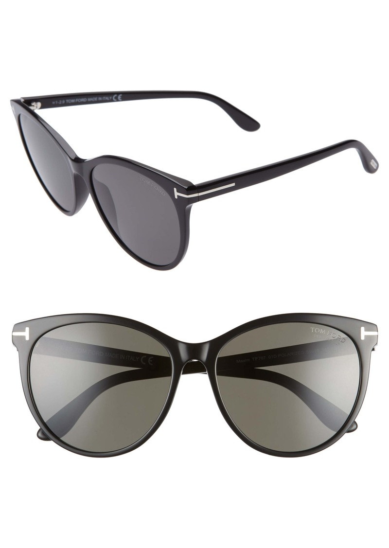 Tom Ford Maxim 59mm Polarized Cat Eye Sunglasses