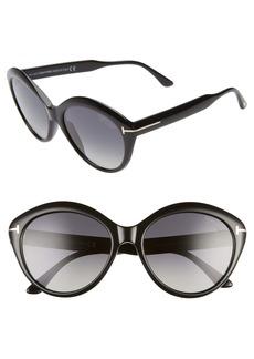 Tom Ford Maxine 56mm Polarized Round Sunglasses