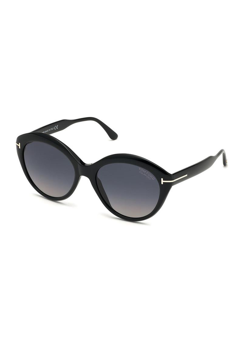 TOM FORD Maxine Round Polarized Sunglasses