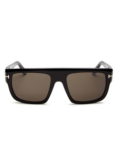 Tom Ford Men's Alessio Flat Top Square Sunglasses, 57mm