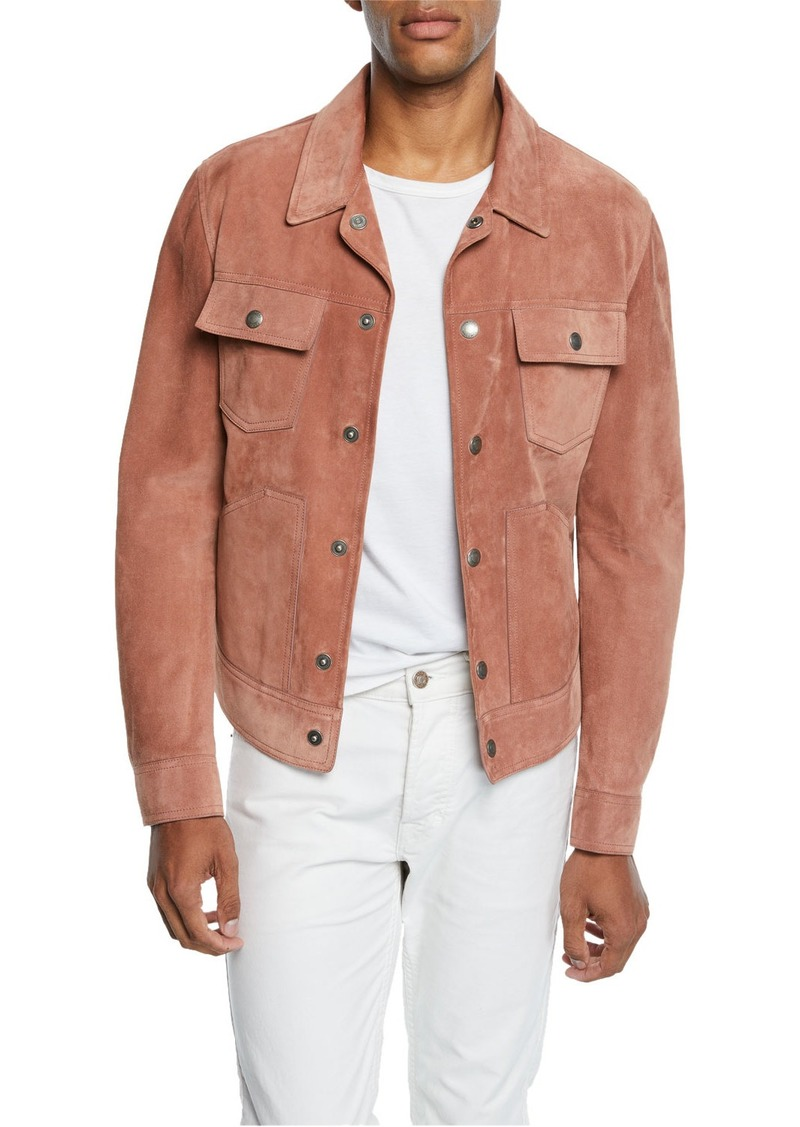TOM FORD Men's Calf Suede Trucker Jacket
