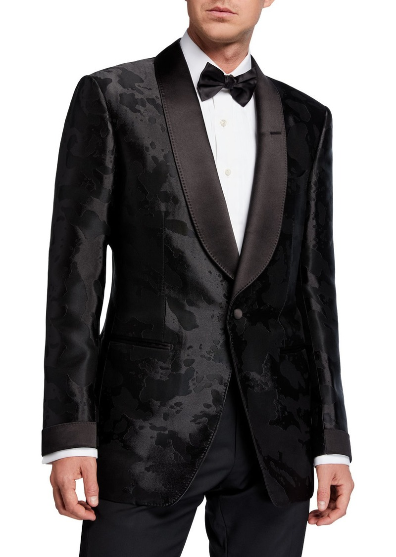 TOM FORD Men's Camo-Print Satin Dinner Jacket