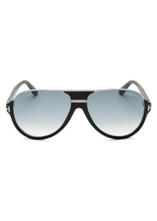 Tom Ford Men's Dimitry Flat Top Aviator Sunglasses, 61mm