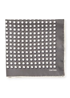TOM FORD Men's Dotted Silk Pocket Square