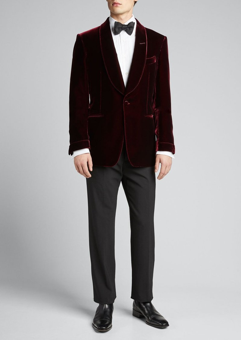 TOM FORD Men's Fluid Velvet Shelton Dinner Jacket