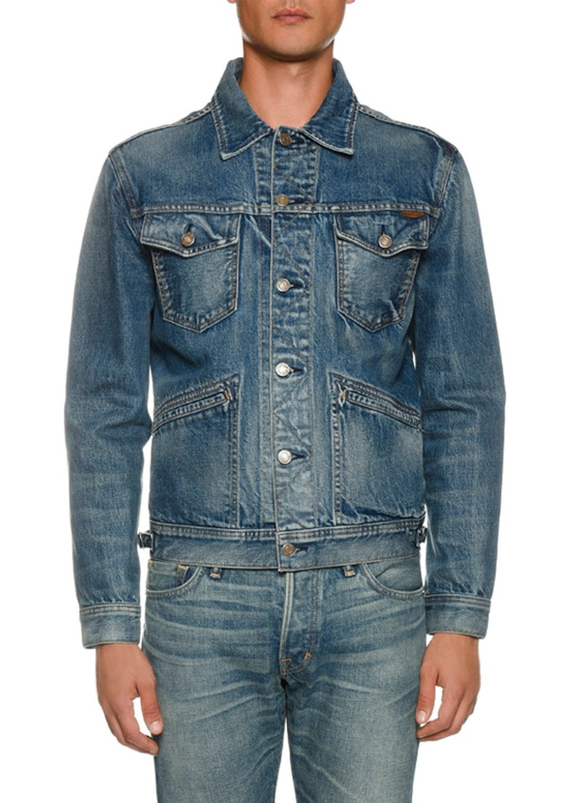 TOM FORD Men's Four-Pocket Denim Jacket