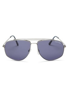 Tom Ford Men's Georges Mod Brow Bar Aviator Sunglasses, 59mm
