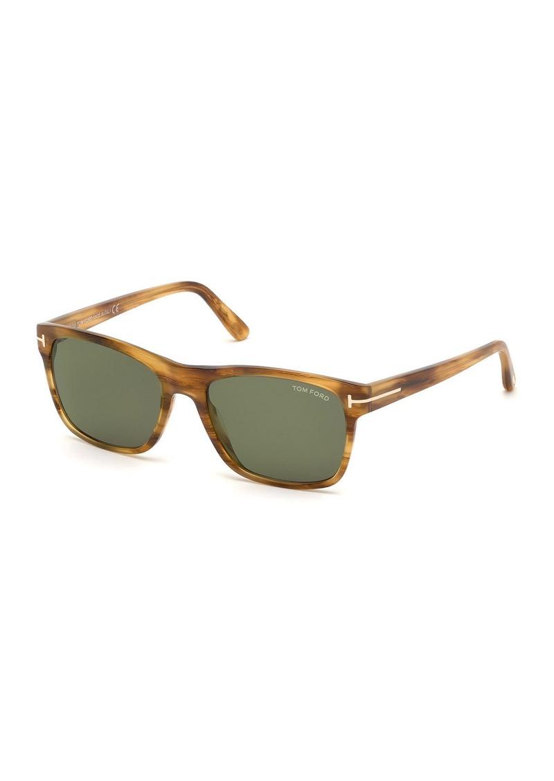 TOM FORD Men's Giulio Polarized Havana Sunglasses