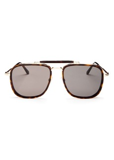 Tom Ford Men's Huck Brow Bar Aviator Sunglasses, 61mm