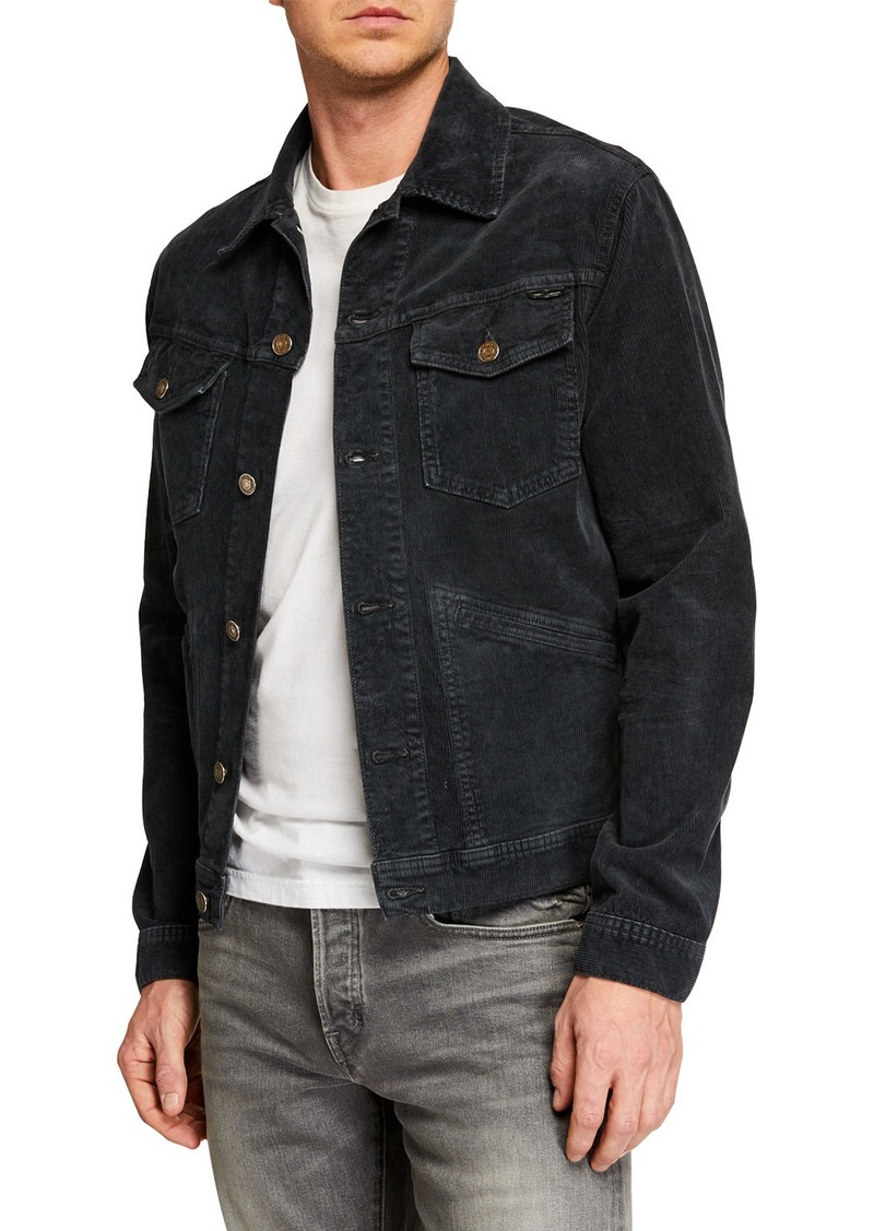 TOM FORD Men's Icon Corduroy Denim Jacket
